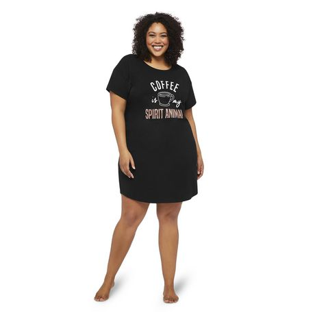 George Plus Women's Graphic Printed Nightshirt - image 1 of 6