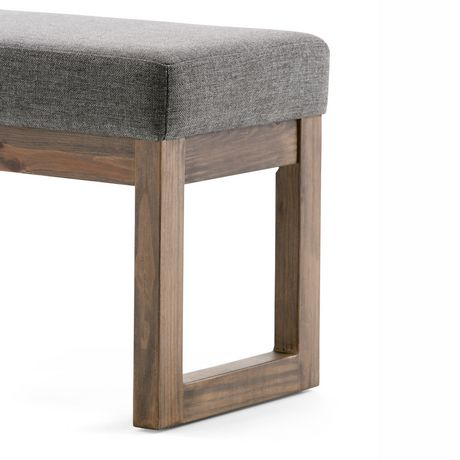 WyndenHall Madison Linen Look Small Ottoman Bench in Grey - image 3 of 5
