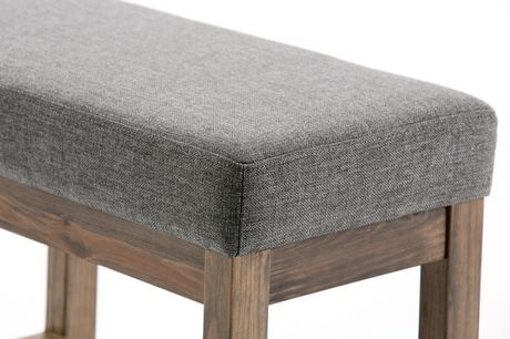 WyndenHall Madison Linen Look Small Ottoman Bench in Grey - image 4 of 5