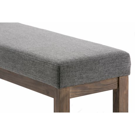 WyndenHall Madison Linen Look Large Ottoman Bench in Grey - image 4 of 5