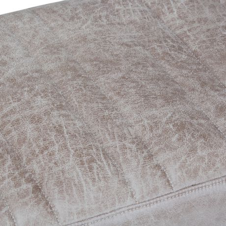 WyndenHall David Ottoman Bench in Distressed Grey Taupe Faux Air Leather - image 4 of 5