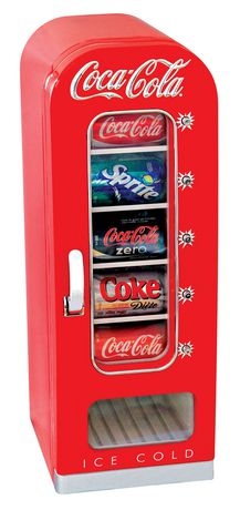 Coca-Cola 10 Can AC/DC Retro Vending Electric Cooler (0.64 Cubic Foot/18 Liters) - image 1 of 2