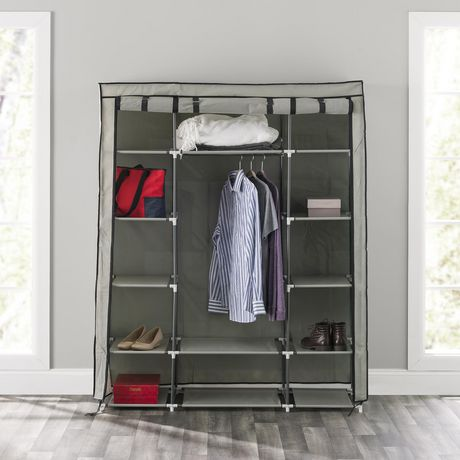 Storage Closet with Shelving, Grey | Walmart Canada