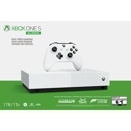 Console Xbox One S 1To à jeux sans disque - image 2 de 4