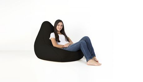Lounge Co Black Sherpa Bean Bag Cover