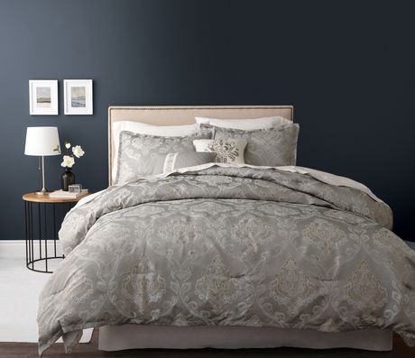 Hometrends Gold And Silver Lines Comforter Set Walmart Ca