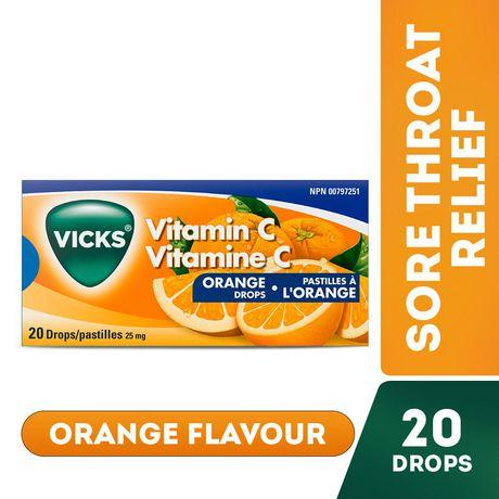Vicks Vitamin C Drops, Orange - image 1 of 6