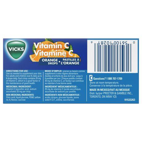 Vicks Vitamin C Drops, Orange - image 6 of 6