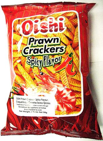 Oishi Prawn Crackers Spicy flavor 90g - image 1 of 5