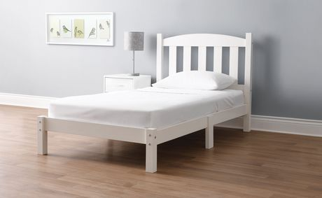 MAINSTAYS Twin Wood Bed, White - image 1 of 3