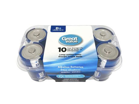AAA Great Value Alkaline Batteries - 8 Pack | Walmart Canada