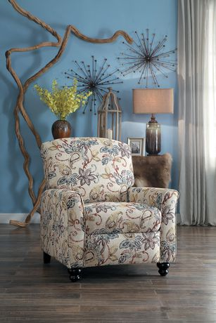 Topline Home Furnishings Fauteuil manuel floral - image 1 de 6