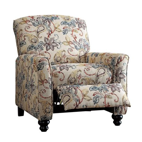 Topline Home Furnishings Fauteuil manuel floral - image 5 de 6