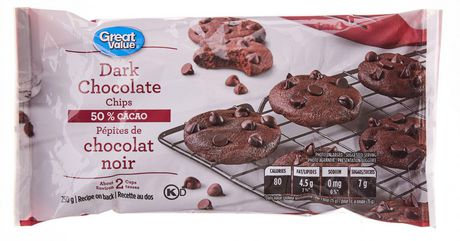 Great Value Dark Chocolate Chips - image 1 of 2