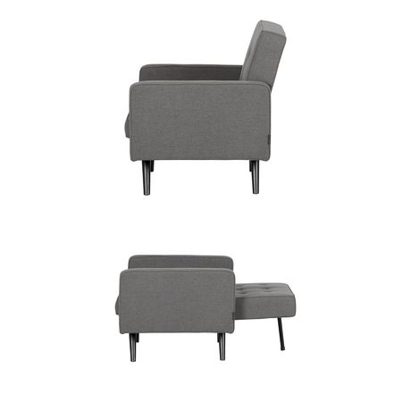 South Shore Live-it Essential Convertible 1-Seat Sofa-Dark Gray - image 3 of 8