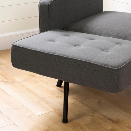 South Shore Live-it Essential Convertible 1-Seat Sofa-Dark Gray - image 6 of 8