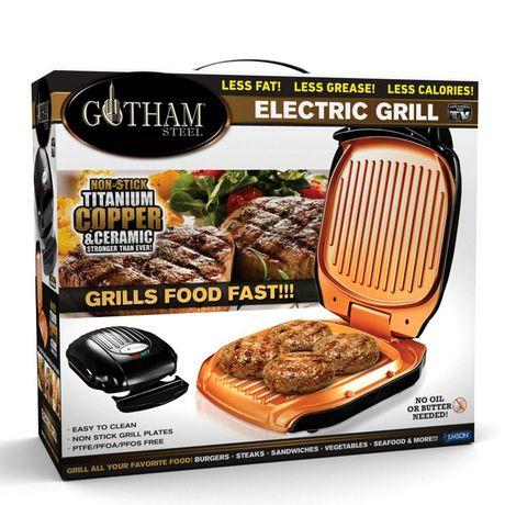 Gotham Steel Low Fat Multipurpose Sandwich Grill Nonstick Copper Coating - image 2 of 4