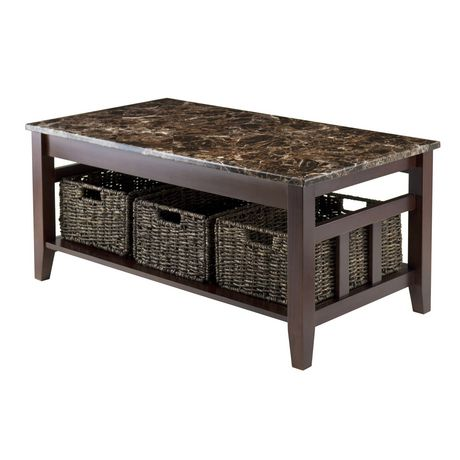 Zoey Coffee Table With 3 Baskets Item 76337