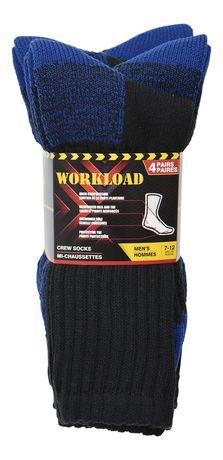 Chaussettes de travail Workload pour hommes en paq. de 4 - image 2 de 2
