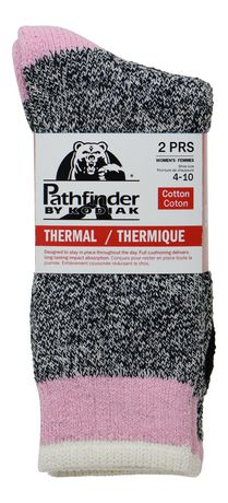 Ladies Pathfinder by Kodiak 2-Pack Thermal Cotton Socks - image 3 of 3