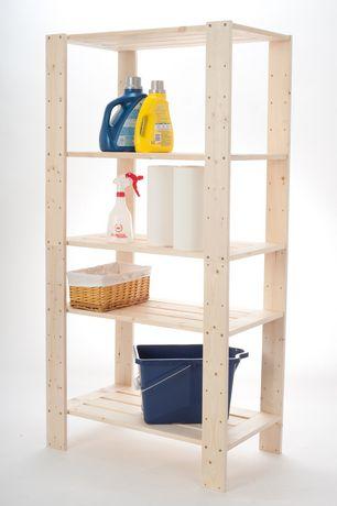 Shelve it 5 Shelf Wood Shelf