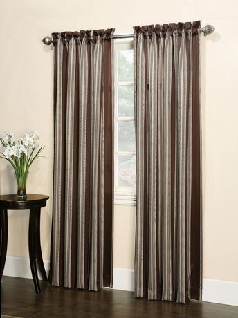 918 Charleston Stripe Rod Pocket Curtain | Walmart Canada