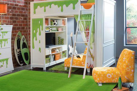 Tapis KD rectangle amusant pour enfant Vert Citron nylon - image 2 de 2