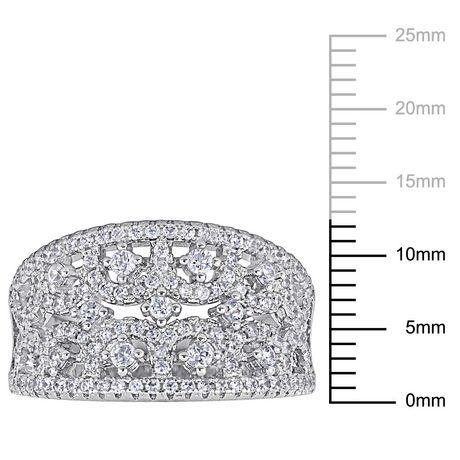 Bague ajourée Avra Rose avec zircons cubiques 1-5/8 CT PBT en argent sterling - image 3 de 4