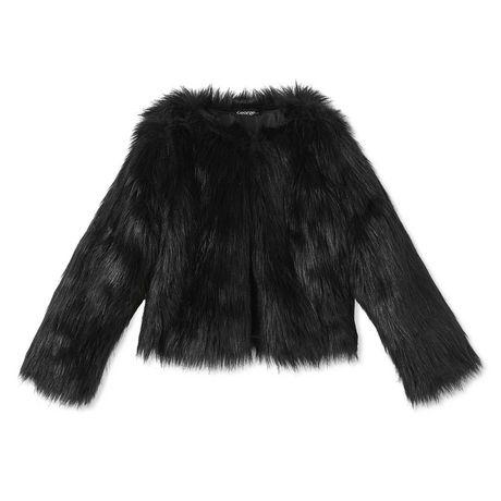 7bdcc6fda12e George Girls' Shaggy Fur Jacket | Walmart Canada