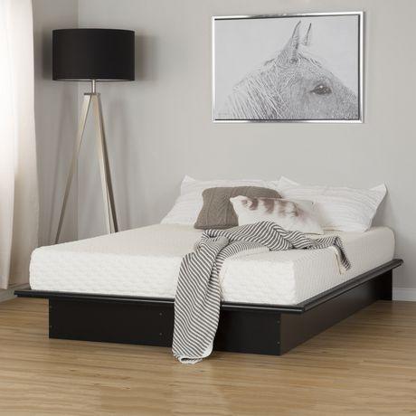 Ens lit plateforme et matelas meubles south shore pour double lit de 54 po - Plateforme de lit double ...