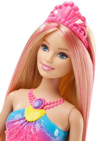 Poup e sir ne couleurs et lumi res de barbie walmart canada - Barbie barbie sirene ...