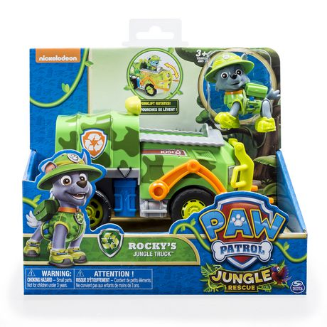 Paw Patrol Jungle Rescue Rocky S Jungle Truck Toy Vehicle