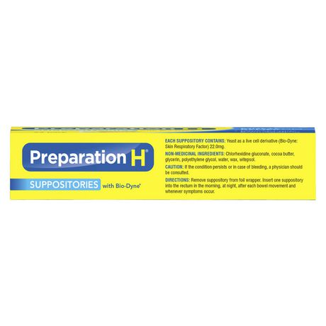 Paquet de suppositoires de Préparation H - image 2 de 4