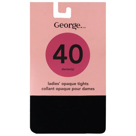 b65f2201298d2 George Opaque Control Top Black Tights 1pk - image 1 of 2 ...