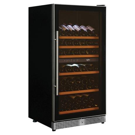 bouteille de 68 bouteilles deux zones int gr e et cave vin libre walmart canada. Black Bedroom Furniture Sets. Home Design Ideas