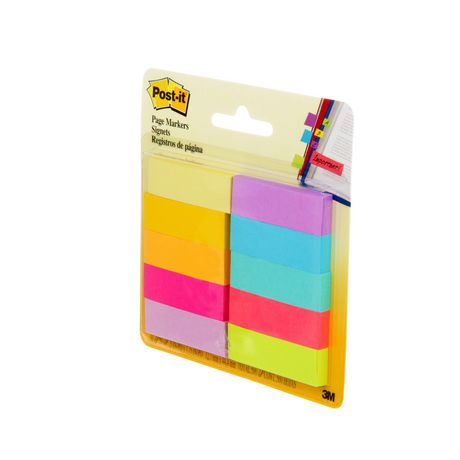 POST - IT Post-it® Page Markers, Assorted Brights, 1/2 in X 2 in (1.3 Cm X 5 Cm) - image 3 of 5