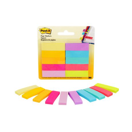POST - IT Post-it® Page Markers, Assorted Brights, 1/2 in X 2 in (1.3 Cm X 5 Cm) - image 5 of 5