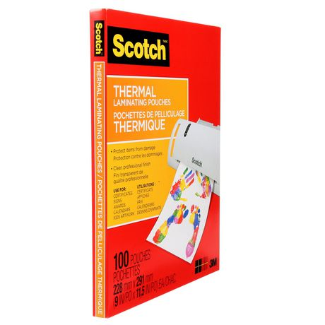 SCOTCH Thermal Laminating Pouches, 100/Pack, - image 1 of 5