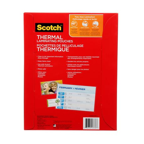 SCOTCH Thermal Laminating Pouches, 100/Pack, - image 4 of 5