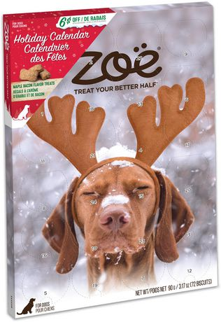Zoe Dog Holiday Calendar with Festive Maple Bacon Treats - image 2 of 4