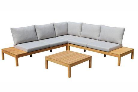 Ensemble modulaire de jardin Hometrends Mason en bois d\'eucalyptus, 4 pièces