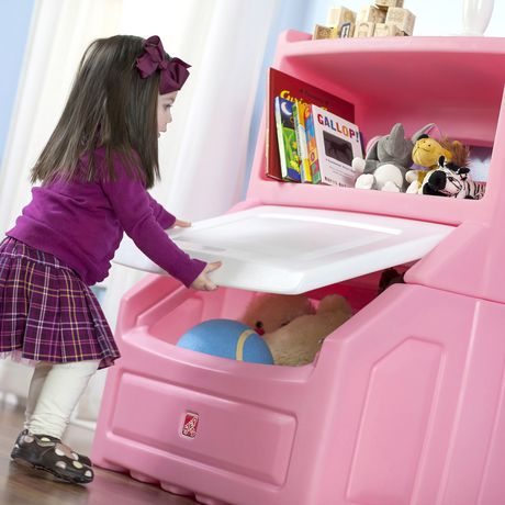Step2 Lift & Hide Pink Bookcase Storage Chest - image 2 of 4