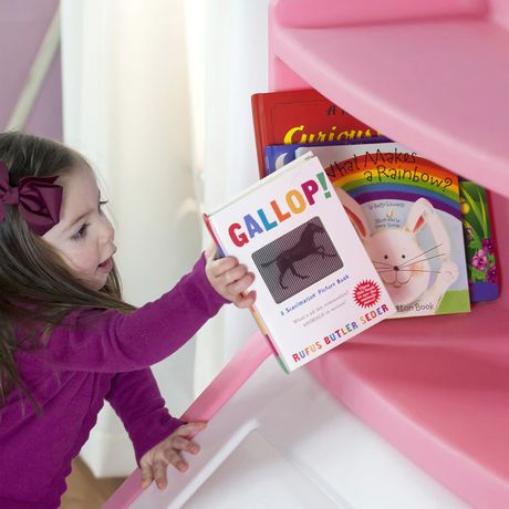 Step2 Lift & Hide Pink Bookcase Storage Chest - image 3 of 4