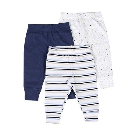 George baby Boys' Cotton Joggers, 3-Pack - image 1 of 1