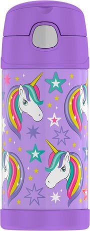 GENUINE THERMOS BRAND Funtainer Vacuum Insulated Bottle, 355 ml, Unicorn - image 1 of 1