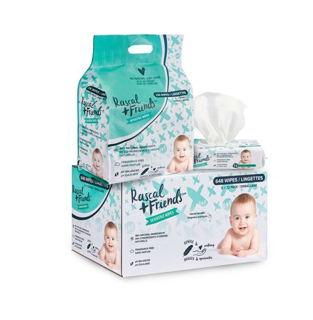 Rascal + Friends Sensitive Baby Wipes -9 Pack - image 6 of 8