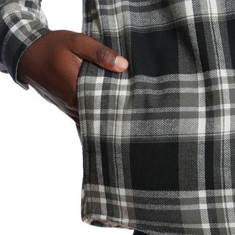 e77d107fde4 Wrangler Men s Sherpa Lined Flannel Shirt Jacket - image 5 ...