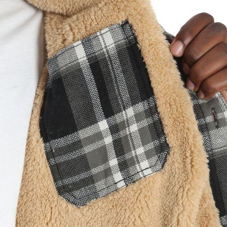 d0a7f09a602 Wrangler Men s Sherpa Lined Flannel Shirt Jacket - image 6 ...