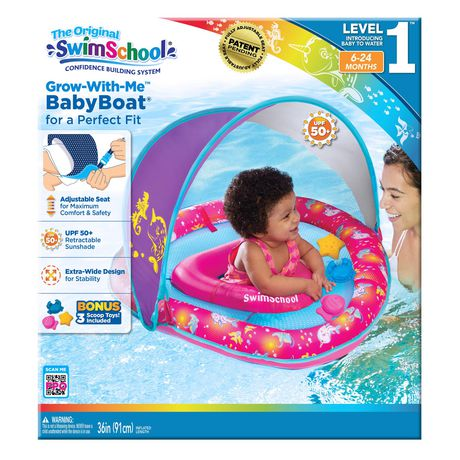 Grow-With-Me Babyboat with Canopy and 3 Toys - Whale - image 5 of 5