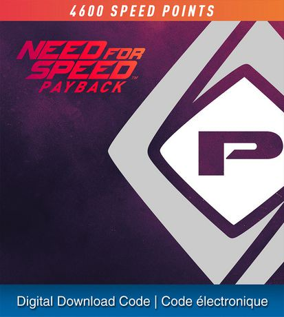 ps4 need for speed payback 4600 speed points digital download walmart canada. Black Bedroom Furniture Sets. Home Design Ideas